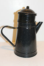 French Graniteware Enameled Steel Percolator Coffee Pot