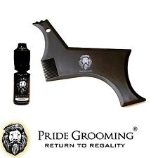 PRIDE GROOMING Beard Hair Shaping Tool Comb & 10ml Conditioning Oil Essential