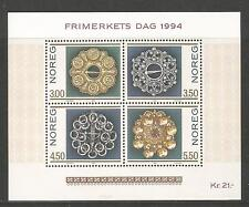 Norway 1994 Stamp Day/Jewelry ss--Attractive Art Topical (1069) MNH