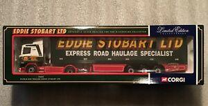 Corgi 76602 Scania Box Trailer Eddie Stobart 1/50. Limited Edition. Brand New.