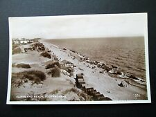 CLIFFS & BEACH, SOUTHBOURNE, BOURNEMOUTH - EXCEL SERIES REAL PHOTO (1940)