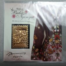 Malaysia 2014 Baba Nyonya Gokd Foil MS MINT MNH with Stamp Designer Signature
