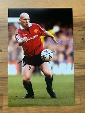 JAAP STAM - Hand Signed 12x8 Photo - Manchester United Holland - Football