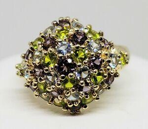 Ross & Simons Gold Vermeil 925 Sterling Amethyst Topaz & Peridot Ring - Sz 8