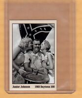 JUNIOR JOHNSON, '60 DAYTONA 500 WINNERS CIRCLE CARD #2 CHEVY EARLY NASCAR