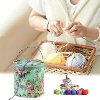 Knitting Wool Yarn Bag Crochet Sewing Needle Bucket Weave Storage Case Bag DIY