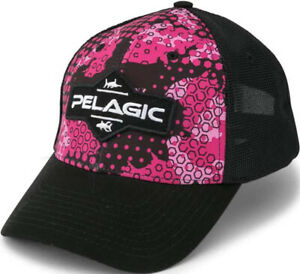 NWT Pelagic Offshore Ambush Snapback Cap Hat Adjustable Mesh Trucker Women
