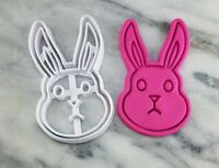 Bunny Rabbit Face Cookie Cutter 2-Piece, Outline & Stamp #1 Easter Bunny