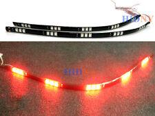 """2x 12"""" Flexible Strip LED Day Time Running Light DRL Red LED 15-SMD 12V"""
