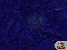 """Velvet Crushed ROYAL BLUE Upholstery Fabric / 54"""" Wide / Sold By the Yard"""