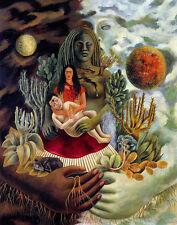 Frida Kahlo The Love Embrace The Earth Canvas Print 16 x 20    #4716