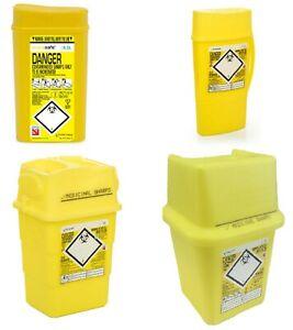 Sharps Waste Bin Box Sharpsafe 0.2 - 4 L Medical Lab Supplies Disposables Travel