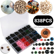 838x DIY Plastic Colorful Safety Eyes & Noses With Washers For Plush Doll Toys