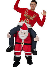Ride on cosutme Santa Claus Funny Carry me pants Mascot costume Fancy dress