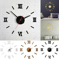 DIY Wall Clock Watch 3D Acrylic Art Stickers Decals Modern Home Office Decor