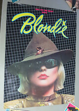 Vtg 1979 BLONDIE EAT TO THE BEAT CHRYSALIS RECORD ADVERTISING STORE PROMO POSTER