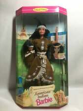 1995 Native American Barbie Doll with Baby Blue Feather Papoose & Book (JM14)