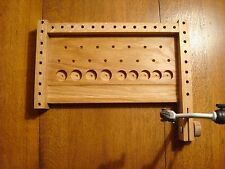 Fly tying bench,Left hander's tying station,Fly tool caddy,fly fisherman gift