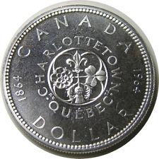 elf Canada 1 Dollar 1964 Charlottetown  Silver Elizabeth II