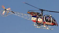 SA-315 Lama Aerospatiale SA315 Helicopter Wood Model Replica Small FreeShipping