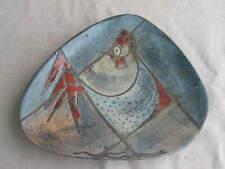 Schale 50er Jahre Keramik Künstlerkeramik mit abstraktem Tier Stier ? q
