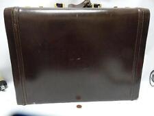 Vintage Franzen Professional Leather Hard Briefcase Suede Lined Lockable German