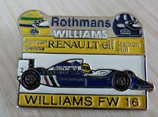PIN'S F1 FORMULA ONE WILLIAMS RENAULT ROTHMANS AYRTON SENNA DAMON HILL EAF