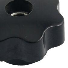 M10 10mm Dia Thread Black Plastic Star Head Clamping Knob Grip Y2N5