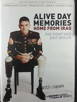 Alive Day Memories Home From Iraq DVD war soldiers disabilities vets Library Wit