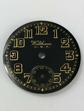 Exceptional Waltham Black Trench Watch Dial - Hard to find Replacement Part AE18