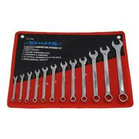 12pc COMBINATION METRIC SPANNER SET SIZES 6MM TO 22MM  WRENCH ring open ended
