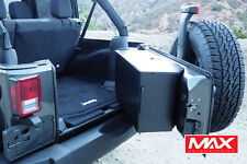 2007-2017 Jeep Wrangler 2/4dr Black Aluminum Tailgate Storage Box Vault No-Drill