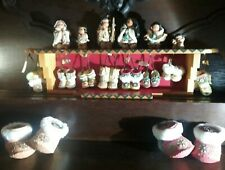 Friends of the Feather Enesco 1999 Walk in the Footsteps Complete Set & Display