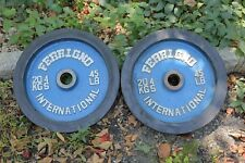 """Ferrigno Bumper Plates 2"""" Pair 45 lb Weight Plates 2x45 lbs Olympic Vintage Rare"""