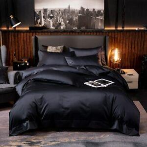 Bedding Set 4/6Pc Duvet Cover Set Deep Pocket Fitted Sheet Bed Sheet Pillowcases
