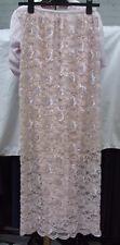 Fabulous Full Length Pink Beaded Sequin Handmade Skirt & Top Set Eve Dress UK 8