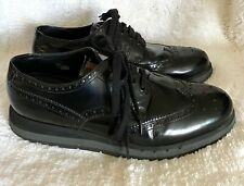 Prada Lace Up Brogue Black Leather Platform Oxfords Sneakers UK 9.5 US 10.5 11