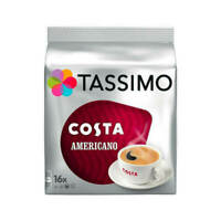 TASSIMO COSTA COFFEE Americano 5 X 16  114g Coffee Pods 80 Drinks