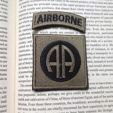 82nd Airborne Infantry Division MILITARY MORALE Embrodiered PATCH/GREEN