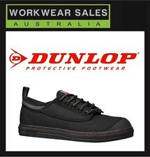 MENS DUNLOP VOLLEY SAFETY STEEL CAP BLACK WHITE Workboots VOLLEYS. UK SIZING.