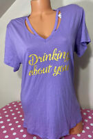"Express NWT Womens Strappy ""Drink About You"" Graphic T-Shirt Small"