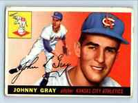 1955 Topps Johnny Gray . #101