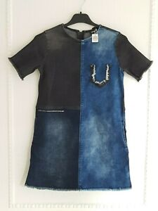 DIESEL Denim Girls Dress with Crystal Swarovski Touch- Size 10-12 Years-RRP 169£