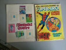 2 ALBUM DI FIGURINE SUPER-EROI DEL 1976 , DA RESTAURO O RECUPERO FIGURINE