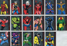 Marvel Avengers Silver Age Avengers Assemble Complete 17 Chase Card Set