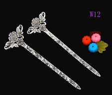 1pcs Fashion zinc alloy flower hair pin 135mm W12