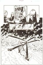 Establishment #8 p.17 Helicopter 'Walking Dead' Artist - by Charlie Adlard Comic Art