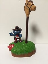 SMURF -- Vintage -- Cowboy Pen Holder