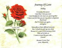 "CUSTOMIZED ""Journey of Love"" POEM For Valentine's Day, Wedding/Anniversary Gift"