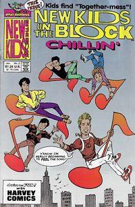 NEW KIDS ON THE BLOCK CHILLIN' #2 JANUARY 1991 HARVEY ROCKOMICS